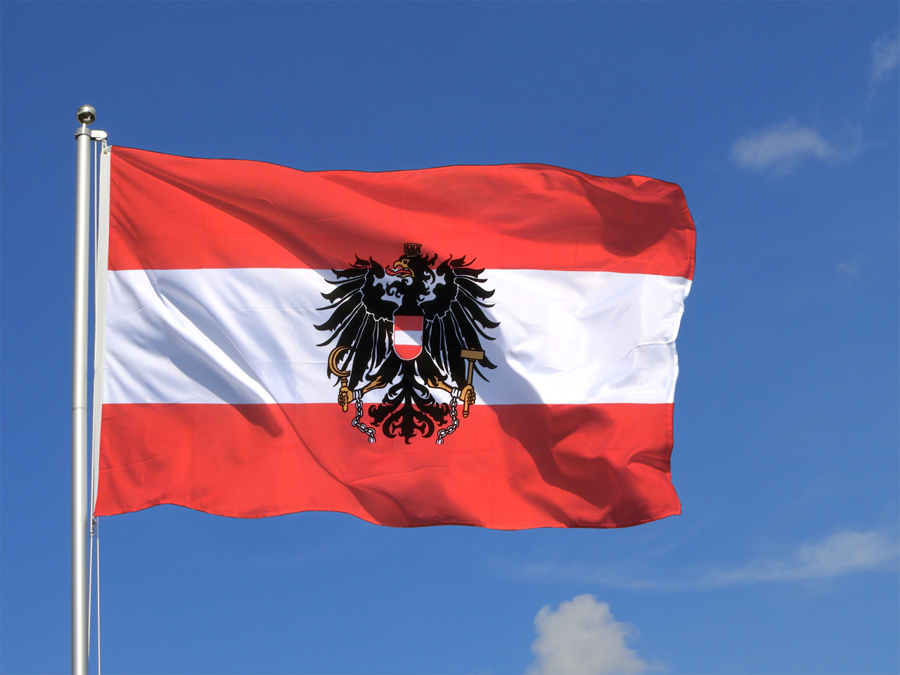 Grand Drapeau Autriche Avec Aigle 150 X 250 Cm M Des