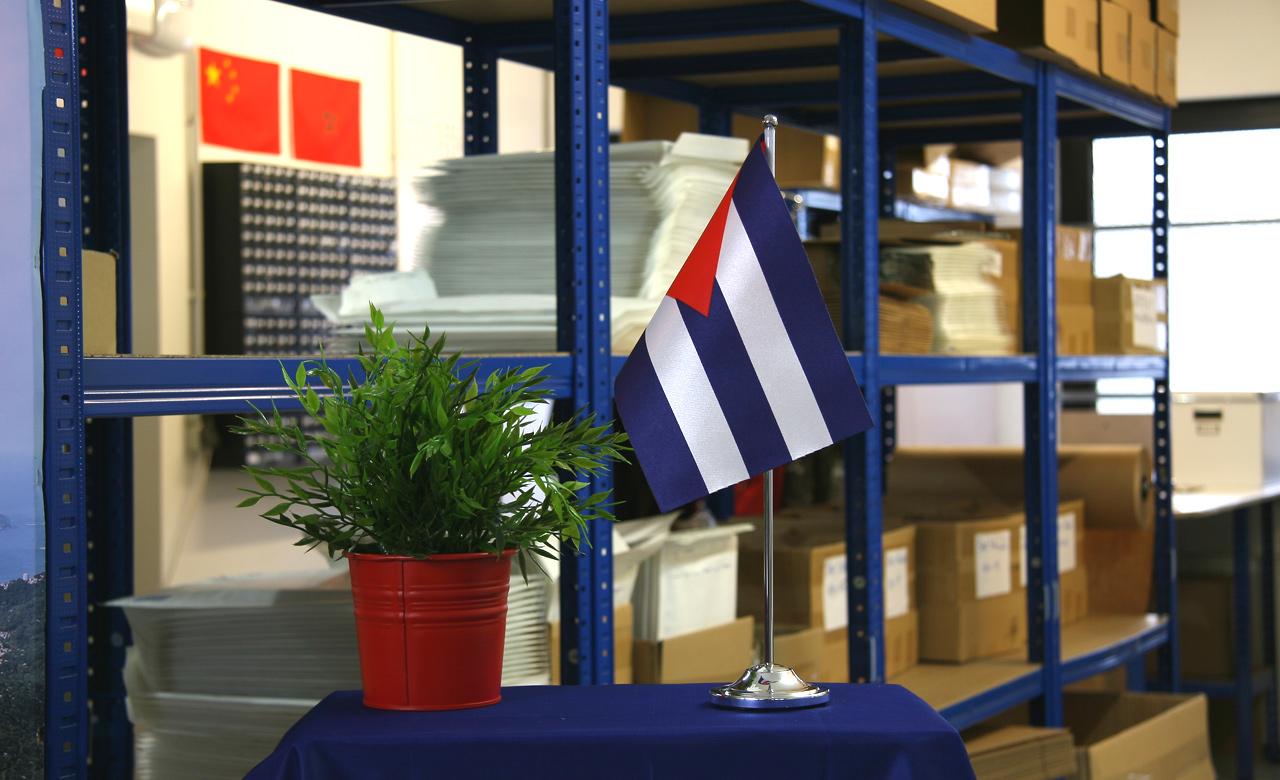 Kuba satin tischflagge 15 x 22 cm Kuba dekoration