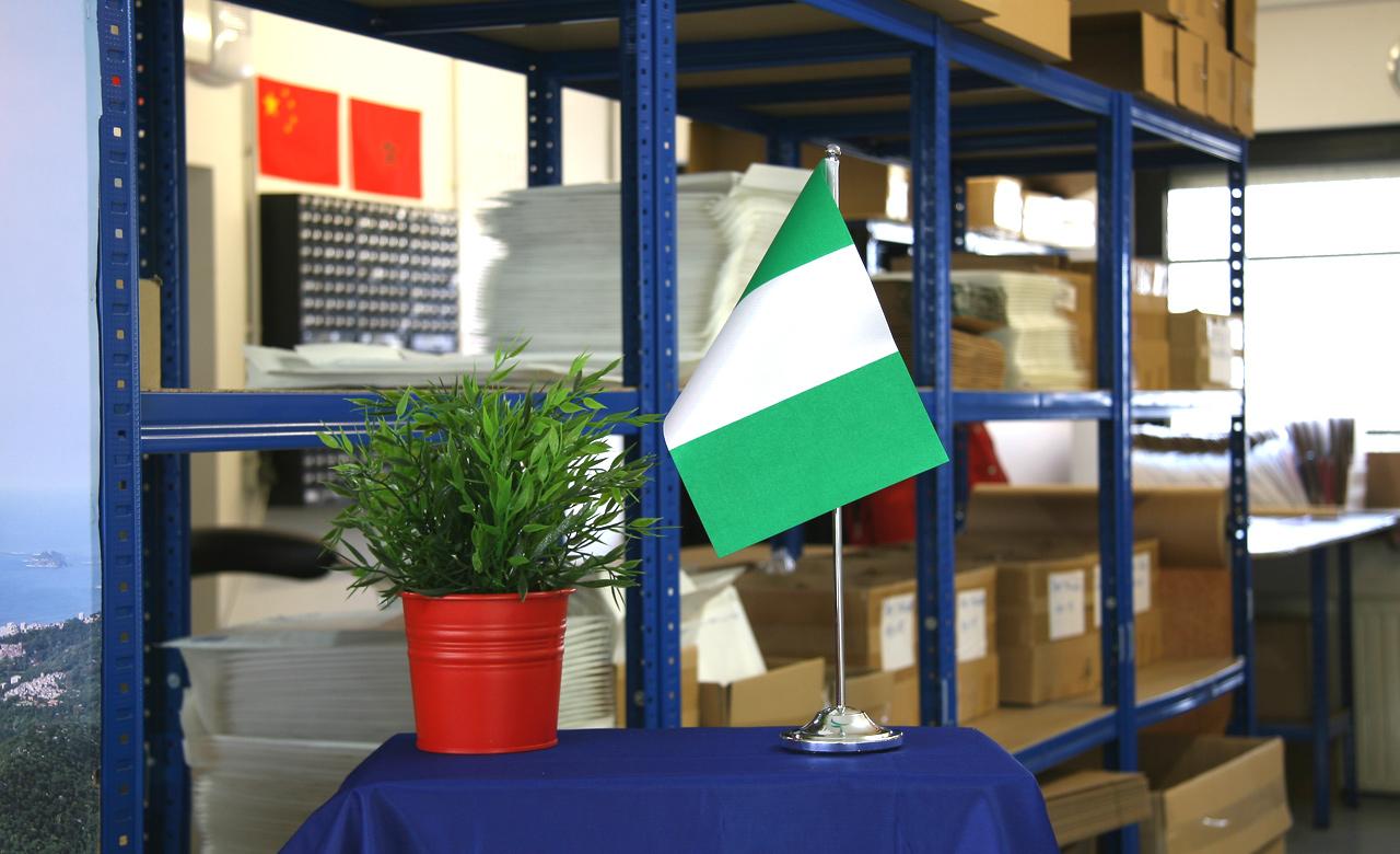 15 x 22 cm Tischflagge Tischfahne Nigeria