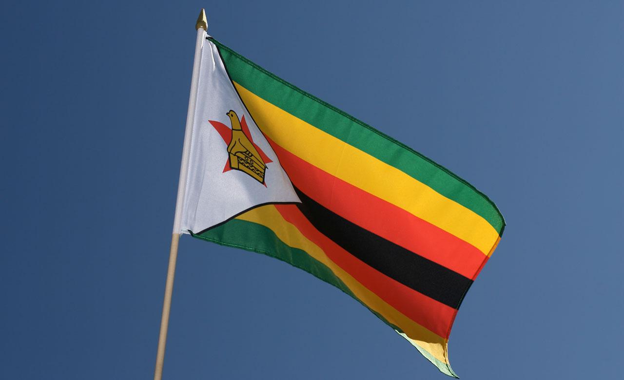 "Hand Waving Flag Zimbabwe - 12x18"" - Royal-Flags"