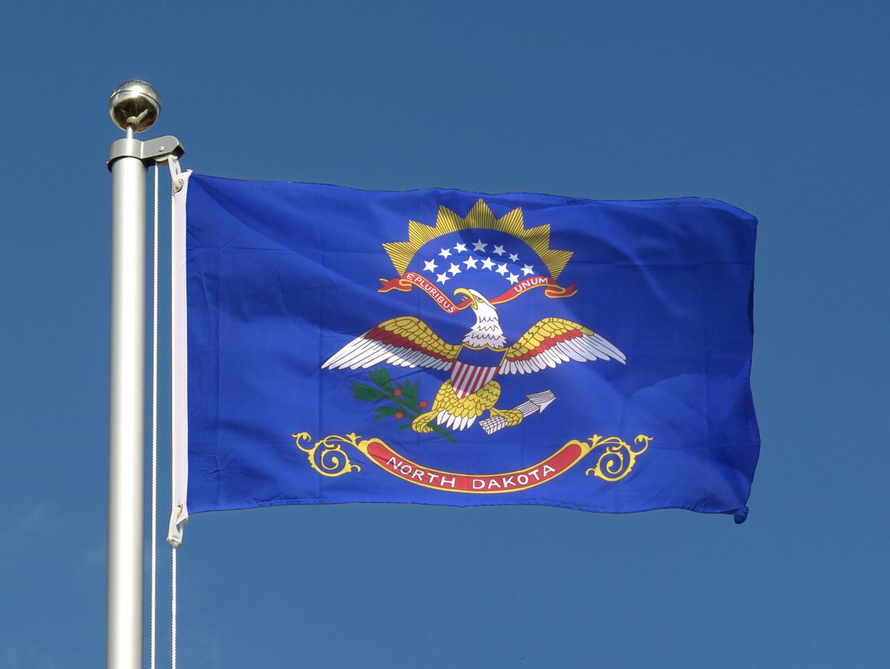 usa north dakota flagge amerikanische fahne 60x90 cm g nstig kaufen. Black Bedroom Furniture Sets. Home Design Ideas