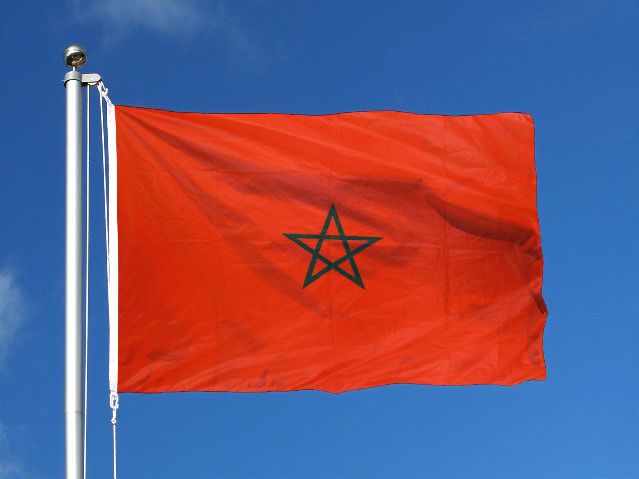 Pavillon drapeau maroc 100x150 monsieur des drapeaux - Drapeau du maroc a imprimer ...