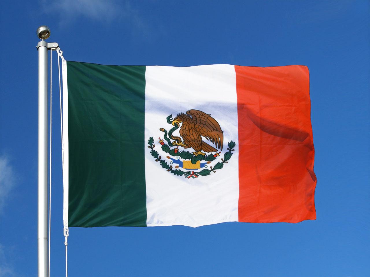 Pavillon drapeau mexique 100x150 monsieur des drapeaux - Drapeau de l amerique ...