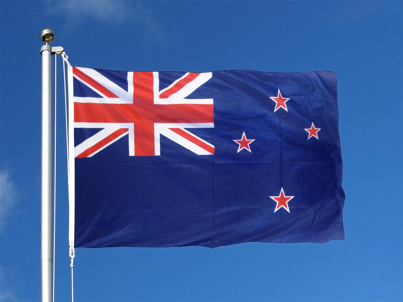 pavillon  drapeau nouvelle z u00e9lande - 100x150