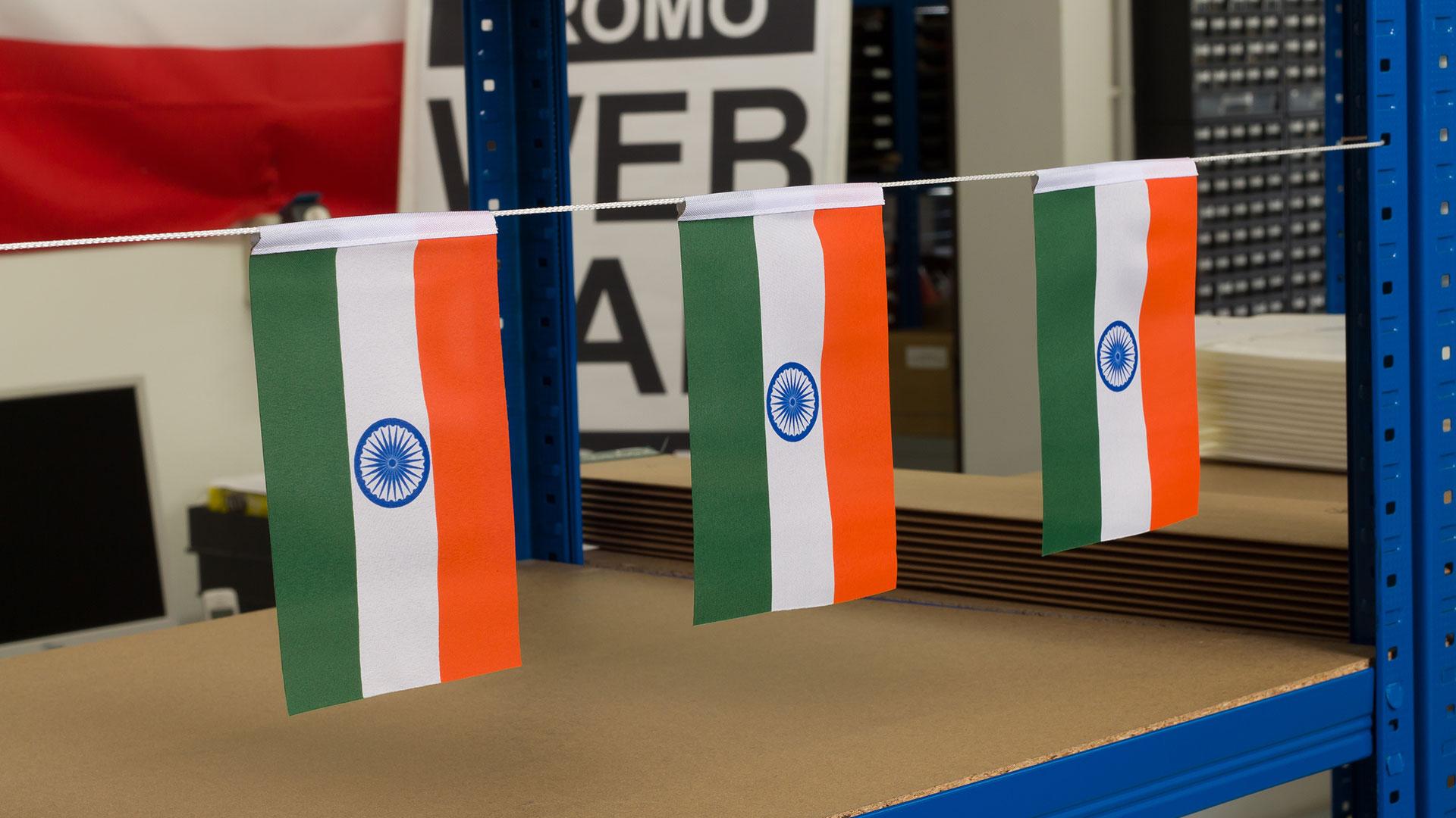 Miniflag Indien 10 x 15 cm Fahne Flagge Miniflagge