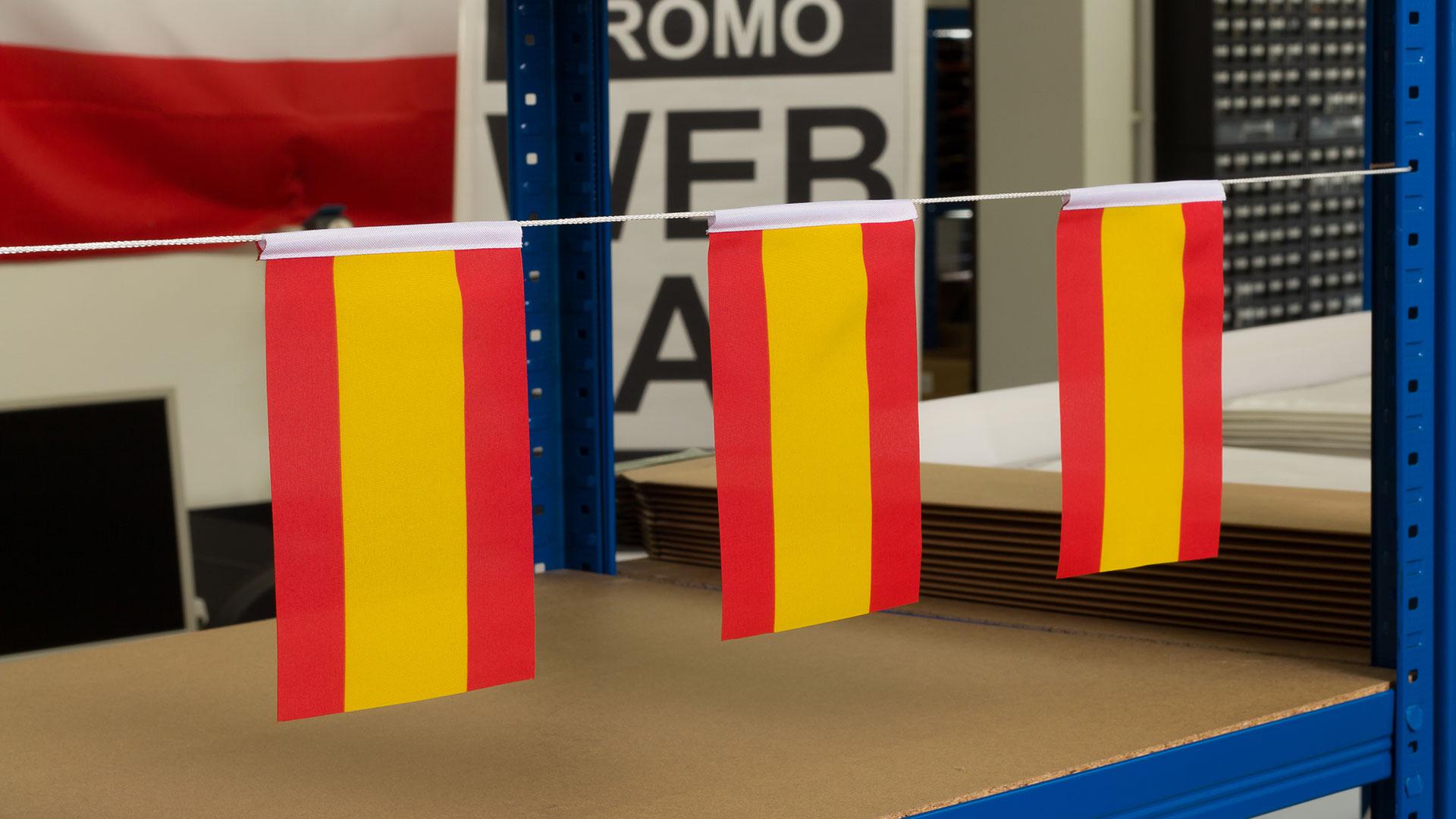 Spanien ohne Wappen - Fähnchen 10 x 15 cm