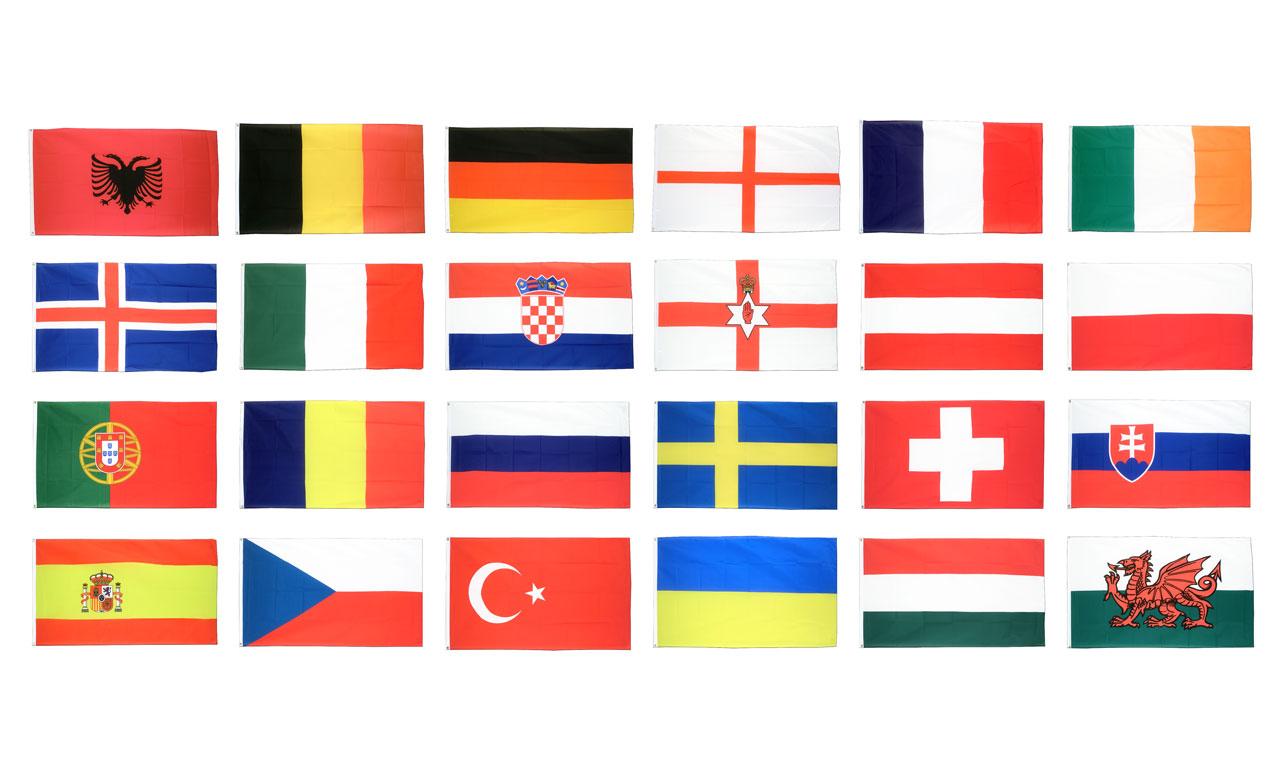 kit drapeaux euro 2016 90 x 150 cm monsieur du drapeau. Black Bedroom Furniture Sets. Home Design Ideas