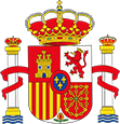 Coat of arms of Spain with crest