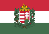 Hungary with crest Flag