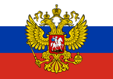 Russia with crest Flag