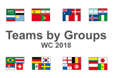World Cup 2018 team flags by groups
