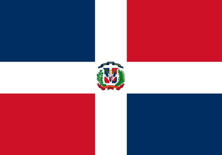 Charming Dominican Republic Flag