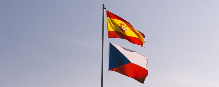 Flags Group D : Spain Czech Republic - Euro 2016 Football