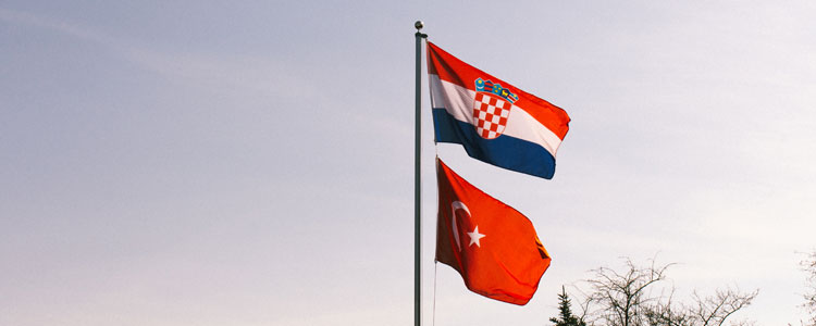 Flags Group D : Croatia Turkey - Euro 2016 Football