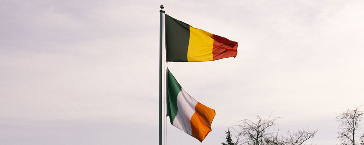 Flags Group E : Belgium Ireland - Euro 2016 Football