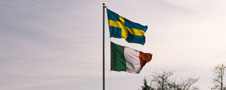Flags Group E : Sweden Italy - Euro 2016 Football