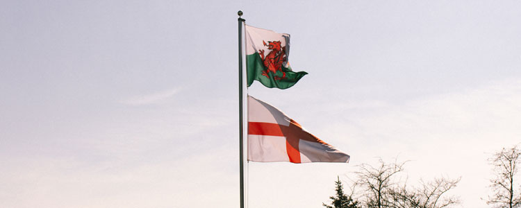 Flags Group B : Wales England - Euro 2016 Football
